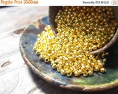 50% Off 200 pcs Bright Gold Round Beads, 2.5mm with a 1mm hole, MB1053 AF16