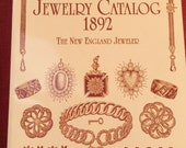 Vintage Antique Fashion History Reference Book Illustrated Jewelry Catalog 1892 Reprint