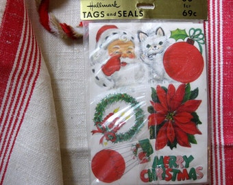 Vintage Hallmark Tags and Seals, Unopened Package of 80