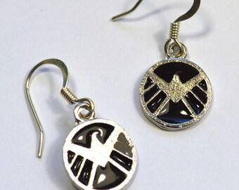 SHIELD Logo Avengers Geeky Dangle Earring Nickel Free Wires