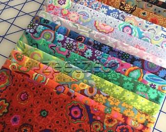 Kaffe Fassett MILLEFIORE 14 Color Half Yard SET - Gp92 Cotton Quilt Fabric by the 1/2 yard Precut Bundle - 7 Yards Total