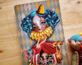 Penelope's Imaginarium Postcard, Circus Girl, Clown Girl, Vintage Circus, Postcrossing