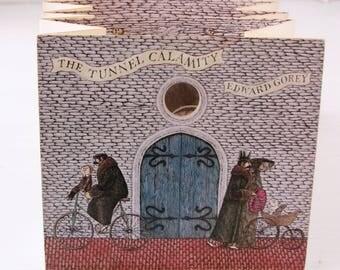 The Tunnel Calamity by Edward Gorey Accordion Book Magic Windows