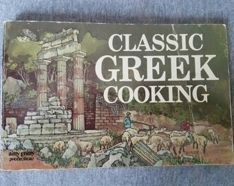 Classic Greek Cooking Vintage 70s Cookbook