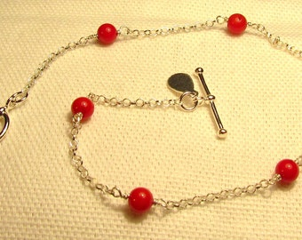 Red Sea Bamboo Ball Bracelet