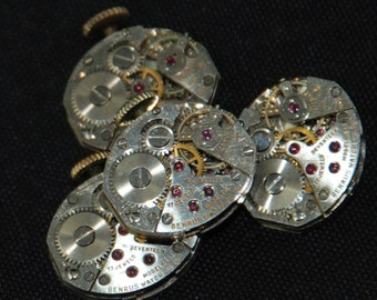 Vintage Antique small Watch Movements Steampunk Altered Art RE 92