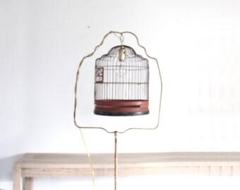 Pink Birdcage Stand Floor Lamp