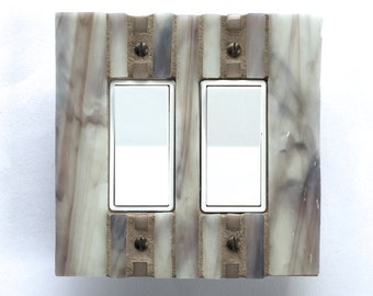 Neutral Light Switch Cover, Gray Switchplate, White Switch Plate, Brown Lightswitch, Decorative Outlet Covers, Dimmer Switch, 8515