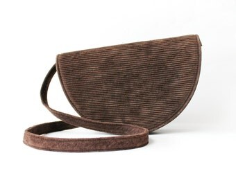 1970's Half Circle Suede Leather Crossbody Bag