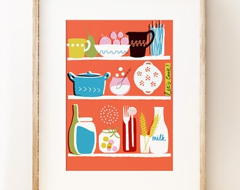 Let's Cook - kitchen wall art print