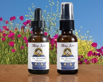 Increased Patience Flower Essence, Dropper, Spray or Aromatherapy Oil, Organic, Reiki-Infused North American and Bach Flowers