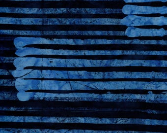 RJR Blossom Batiks 3139 4 Dark Blue Stripes By The Yard