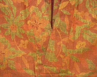 Vintage kimono S297, orange rust