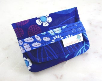 Birth Control Case, Birth Control Holder, Pill Sleeve, Berry Print, Pill Wallet, Birth Control Pouch, Pill Pouch, Purple Raspberry, Card Cas
