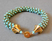teal seed bead bracelet beaded bracelets bead jewelry gold bracelet boho jewelry