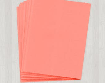50 Sheets of Text Paper - Coral and Peach - DIY Invitations - Paper for Weddings & Other Events