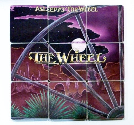 Asleep at the Wheel recycled The Wheel album art coasters and wacky vinyl record bowl