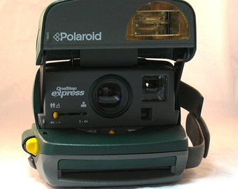 "Vintage Polaroid ""the Frog"" One Step Express Instant Film Camera for Impossible Project 600 Film"