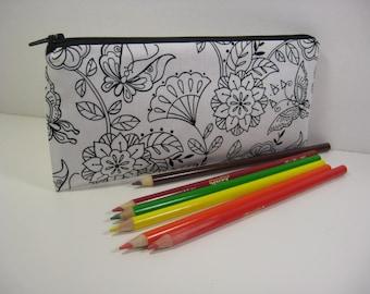 Cosmetic Bag, Pencil Case, Zipper Pouch, Coin Purse, Purse Organizer - Coloring Pencil Case