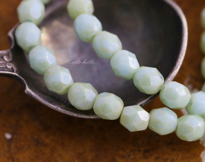 MINT TOTS .. 50 Premium Picasso Faceted Czech Glass Beads 4mm (1732-st)