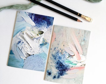 Greeting Card Set: Indigo + Lilac
