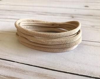 Light Nude Nylon Headbands - One Size Fit All - Headband Supplies - Hair Tie Supplies - Nylon/Spandex - Soft Headband - Baby Headband