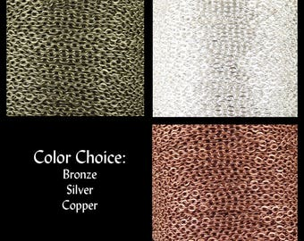 Cross Chain 32 feet CHOICE Silver Bronze Copper Metal Unsoldered 4mm long x 2.7mm wide 21g (1022cha04s1)