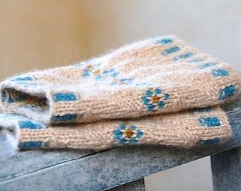 Knitting Pattern PDF Fair Isle Wrist Cuffs Pulsewarmers