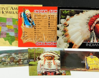 Native American Indian Postcards NM Assorted Lot of 6 from the 1970's, 1980's (15693)