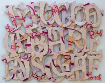 PINK GIRLY - Designer Chipboard Letters Alphabet Die Cuts: Letter | Accessory Tag Set - - 1.5 inch Tall