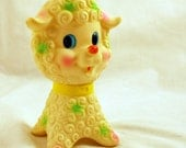 Vintage Squeaky Lamb Toy