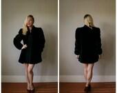 ON SALE 1970s Black Borgazia Jacket~Size Small to Medium