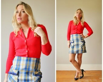 "1970s Fringe Mini Skirt >>> Size Extra Small (25"" Waist)"