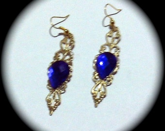 Simply Purple and Gold Long Dangle Fashion Earrings for Every Day Wear boho gypsy native  gift spring summer southwestern