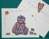 NOTECARDS--Bears with Stars and Stripes