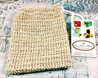Sisal Soap Saver Sack,  Exfoliating Soap Bag, Soap Cozy, Exfoliating Soap Sack, Sisal Washcloth, Christmas Gift, Soap Gift, Bath and Body