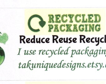 30 Reduce Reuse Recycle Labels, Personalized For Your Shop, Your Shop URL