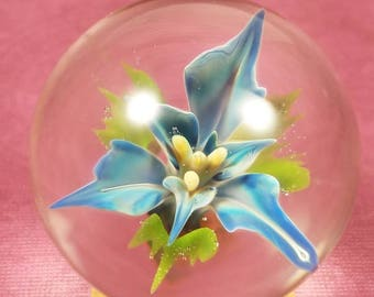 Blue flower marble