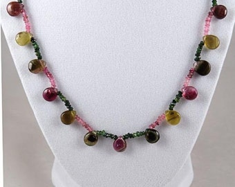 Watermelon Multi Color Tourmaline Necklace 68.64 carats total weight  -  NOW on SALE  -  Fast Free Shipping