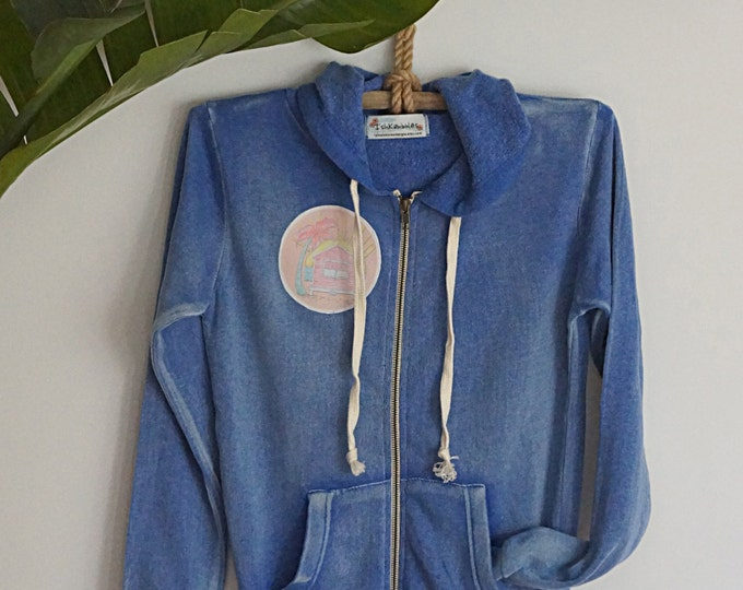 Hoddie Jacket Periwinkle Blue Surf Shack