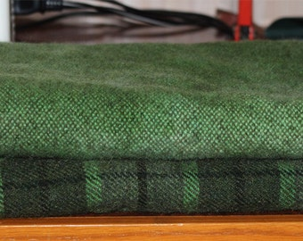 ON the TRAIL GREEN hand-dyed wool for rug hooking and penny rugs