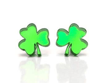 St Patricks Day Earrings | Shamrock Earrings | Clover Earrings | Free Shipping | Made in Chicago