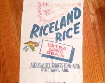 Riceland rice bag, Arkansas rice growers