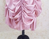 New Year Sale Soft Pink Knee Length Tie Bustle Skirt-One Size Fits All
