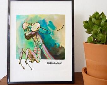 Henri Mantisse Fine Art Print - home decor, wall decor