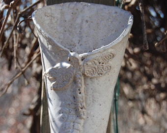 Dragonfly Pottery Wall Vase Planter Wall Hanging Ocean Theme