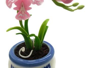 Miniature Polymer Clay Flowers Supplies Handmade Orchids 1 piece