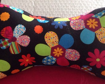 Handmadebynana Dog Bone Travel Pillow made with your favorite color