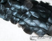 """Metallic  Black Feathers Real Natural Cruelty Free Feathers Bird Feathers Black Spanish Turkey Feathers For Crafts USA 30 @ 1.5 - 2.5"""" / BST"""