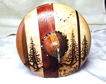 FOREST CREATURES, a drop spindle
